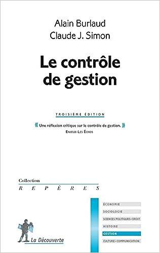 Télécharger en ligne Le contrôle de gestion pdf, epub