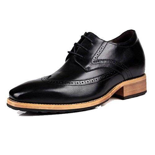 Stringate Black Casual Moda Scarpe da Scarpe Business Scarpe Inghilterra Comode Traspiranti Tip Ginnastica Lavoro da Scarpe E EfPwnaqx17