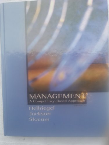 Management a Competency-Based Approach 10th Edition