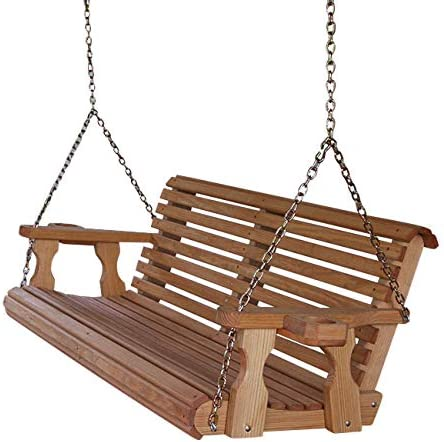 Amish Heavy Duty 800 Lb Roll Back 4ft. Treated Porch Swing