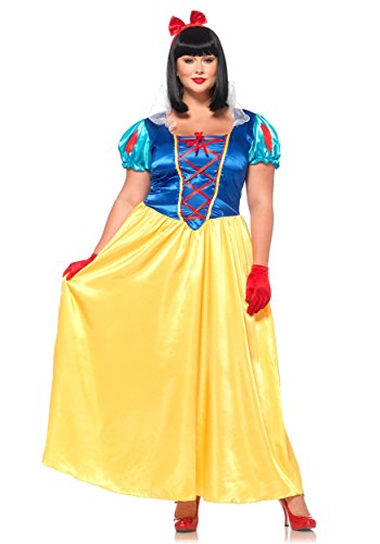 Leg Avenue Classic Snow White Plus Size Dress Costume,Multi,3X / 4X ()