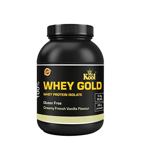 MR KOOL Whey Protein 1 Kg Isolate 80% | Protein 24g & BCAA 5.5g | Gluten-Free | French Vanilla