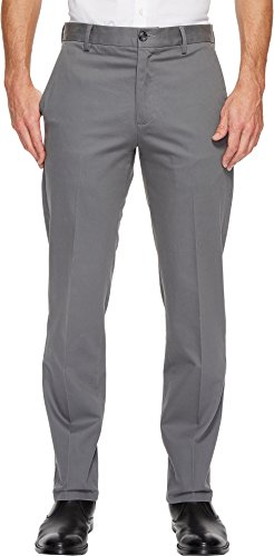 Tailored Straight Cut Pants - Dockers Men's Men's Signature Khaki D1 Slim Fit Flat Front Camino Burma Grey X Stretch Pants