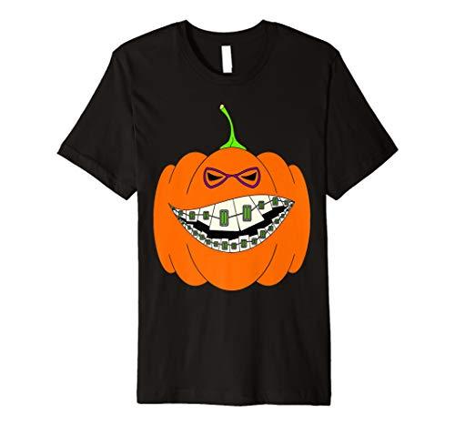Happy Halloween Pumpkin with Braces Orthodontics Horror -