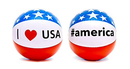 Dejaroo Patriotic Beach Balls (2 Pack) by Dejaroo LLC