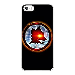 Wunatin Hard Case ,iPhone 5 5S Cell Phone Case White As Roma [with Free Tempered Glass Screen Protector]5691265313247