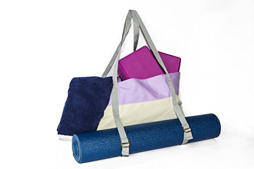 Yoga Mat Tote Bag and Gym Bag by Peak To Prairie - Made with Durable, Soft Canvas for Tips to the Gym and Yoga Classes Large Enough to Fit a Yoga Mat, Blocks, and Towel & Other Accessories