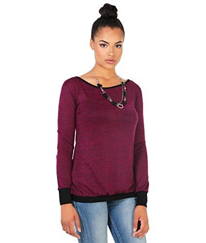 KRISP Damen Sweatshirt Rückenausschnitt_(9305-WIN-S)