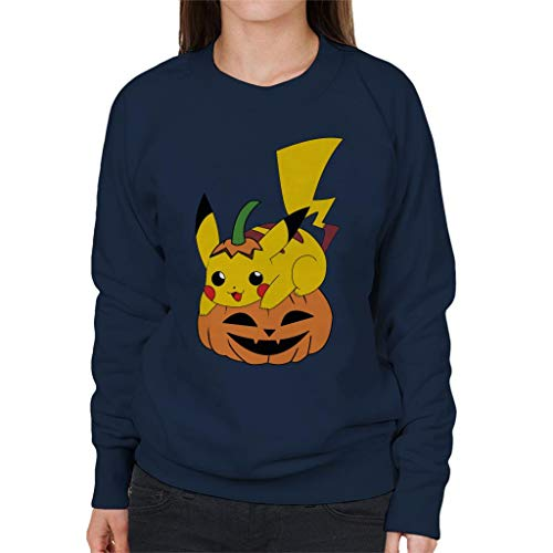 City City Halloween Pikachu 7 Women's Navy Sweatshirt Sweatshirt Cloud Blue Pokemon dvxtnqqH