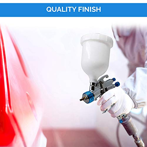 DeVilBiss STARTINGLINE HVLP Spray Gun for Painting Control 1.3mm Gravity Feed Paint Gun with 600milliliter Plastic Cup by DeVilbiss (Image #4)