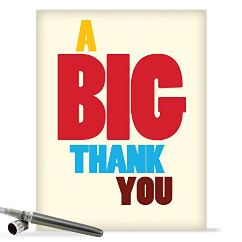 J9689 Jumbo Funny Thank You Card: Big Thank You With Envelope (Extra Large Version: 8.5'' x 11'')