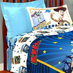 Twin Toy Story Bedding Set   Buzz Lightyear 3D Comforter Sheets   Twin Bed