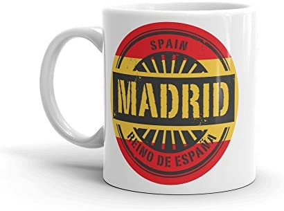 DV Mugs Ltd Taza de café y té de Madrid España 295 ml #6014: Amazon.es: Hogar