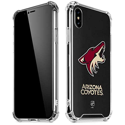 Skinit Arizona Coyotes Distressed iPhone XR Clear Case - Officially Licensed NHL Phone Case Clear - Transparent iPhone XR Cover -