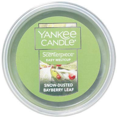 - Yankee Candle Snow-Dusted Bayberry Leaf Scenterpiece Easy MeltCup 2.2 Ounce