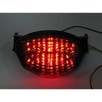 Smoke LED Tail Light with turn signal for Suzuki GSXR1000 GSXR 1000 2005 2006 05 06 K5: Automotive