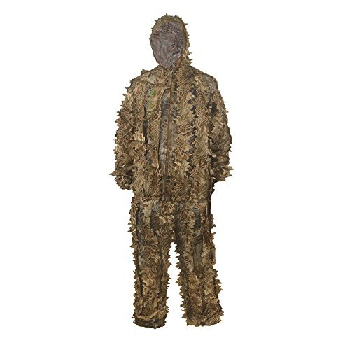 Leafy Camo (HYOUT Hunting Camouflage Clothing Ghillie Suit , Lightweight 3D Leafy Woodland Camo Jungle Hunting Clothes Free Size NOMAD)