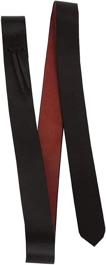 Amesbichler Tie Strap - Correa para sillín de Piel de Lago Suave, Color marrón Rojizo, Aprox. 3,7 cm de Ancho x 140 cm de Largo para Correas en el Lado Izquierdo del sillín Occidental.