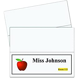 C-Line Large Name Tent Cards, Inkjet/Laser Ready, Scored, White, 4.25 x 11 Inches Folded, 50-Count (87517)