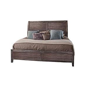 Aurora Weathered Gray Queen Sleigh Bed