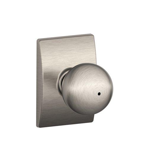 - Schlage F40ORB619CEN Century Collection Orbit Privacy Knob, Satin Nickel