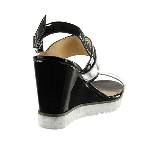 Sneaker Mule Suola Cinturino Scarpe Da Donna Alla Sandali Angkorly xSYvwTq