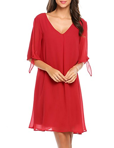 V-Neck Chiffon Cocktail - 4