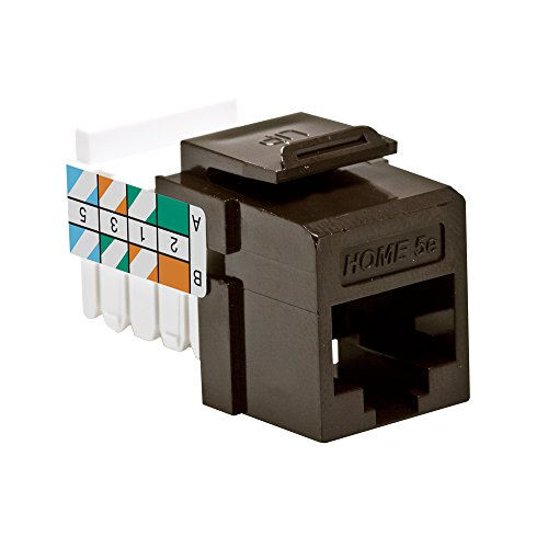 Leviton 5EHOM-RB5 Home 5e Snap-In Connector, T568A/B Wiring, (Leviton Snap In Jack)