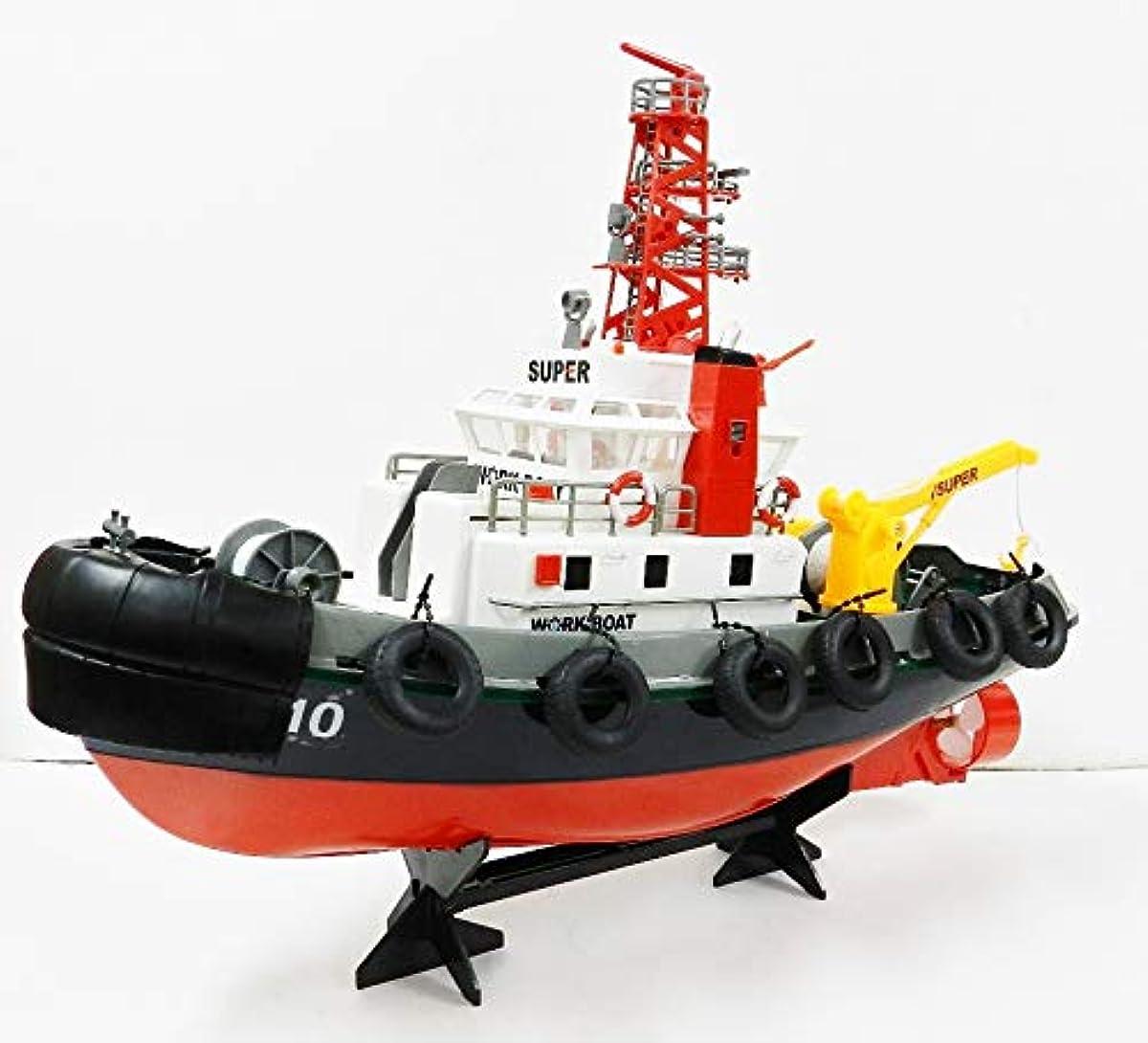 [해외] 【페인티드】 2.4GHZ HENG LONG(헨론)제 tugboat 라디오 컨트롤 ☆방수 가능 ☆항만 작업선 라디오 컨트롤