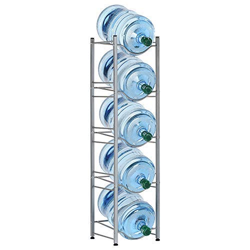 LIANTRAL Water Cooler Jug Rack, 5 Gallon Water Bottle Storage Rack Detachable Heavy Duty Water Bottle Cabby Rack (LT-DB053)