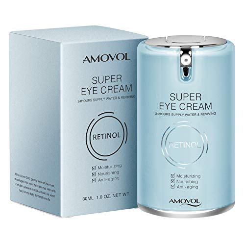 Eye Cream for Dark Circles and Puffiness with Retinol & Grape Seed Extract, Best Anti Aging Under Eye Treatment For Women & Men, Refreshing, Hydrating, Soothing, 1oz, Mothers Day Gifts for Her His (Best Under Eye Cream For Mens Dark Circles 2019)