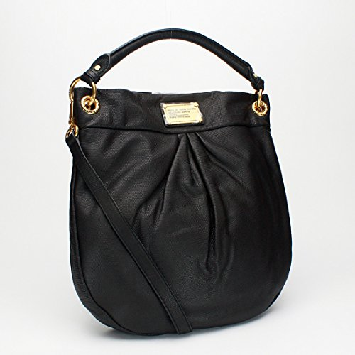 MARC BY MARC JACOBS Classic Q Lizard-Embossed Hillier Hobo, Black