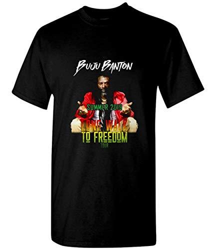 Mars Tee Buju Banton DJ Reggae Long Walk to Freedom Tour Summer 2019 Unisex T-Shirt Sweatshirt Black (Shirt Banton Buju)