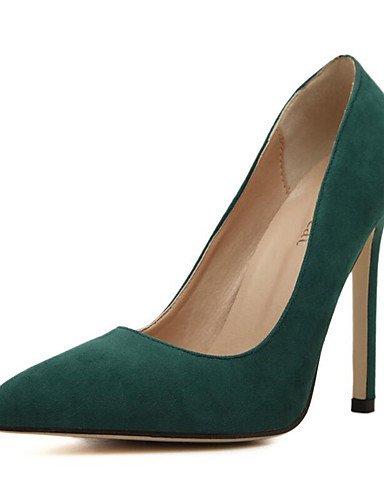 ZQ Zapatos de mujer-Tac¨®n Stiletto-Puntiagudos-Tacones-Vestido / Fiesta y Noche-Ante-Negro / Rojo / Melocot¨®n , black-us6.5-7 / eu37 / uk4.5-5 / cn37 , black-us6.5-7 / eu37 / uk4.5-5 / cn37 peach-us6 / eu36 / uk4 / cn36