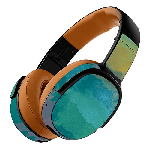 MightySkins Skin Compatible with Skullcandy Crusher 360 Wireless Headphones - Watercolor Blue | Protective, Durable, and Unique Vinyl wrap Cover | Easy to Apply, Remove | Made in The USA