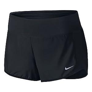 Nike Women's Crew Shorts Black/Black/Reflective Silver MD