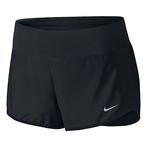 Nike Women's Crew Shorts Black/Black/Reflective Silver XS (Shorts Womens Nike Gym)