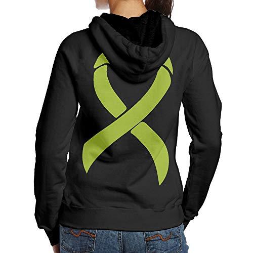 BMWEITIHB Lymphoma Awareness Ribbon Womens Hooded Sweatshirts (Back Print)