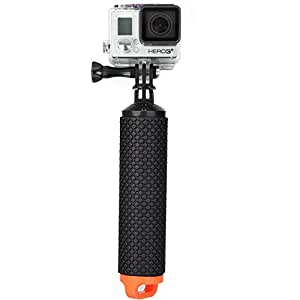 ALLCACA Buoyancy Stick Floating Hand Grip Camera Handle Diving Stick with Lanyard, Suitable for Gopro, Black and Orange