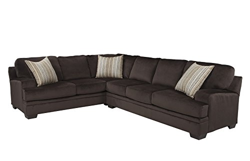 1PerfectChoice Robion Chocolate Sectional