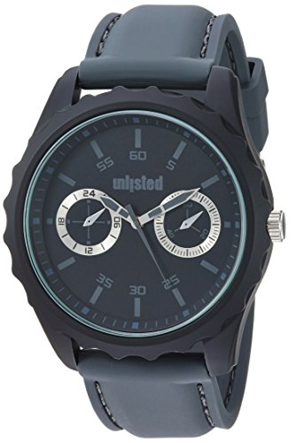 UNLISTED WATCHES Men's 'Sport' Quartz Metal and Silicone Dress Watch, Color:Grey (Model: 10031978)