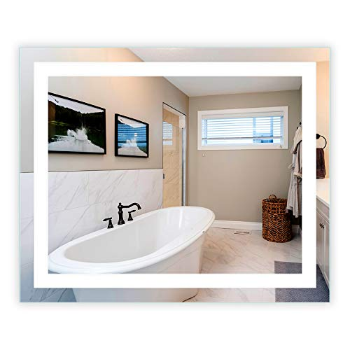LED Front-Lighted Bathroom Vanity Mirror: 44