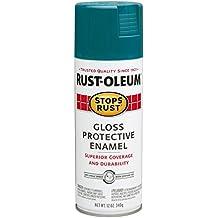 Rust-Oleum 277239 Stop Rust Protective Enamel Spray Paint, Gloss Lagoon