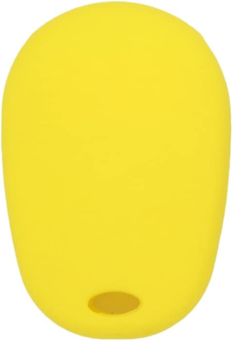 SEGADEN Silicone Cover Protector Case Skin Jacket fit for TOYOTA 4 Button Remote Key Fob CV2418 Yellow