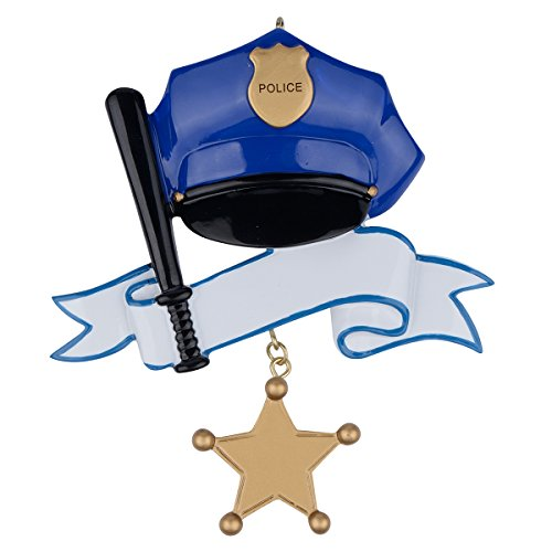 WorldWide Personalized Police Ornament]()