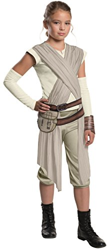 Jedi Costume Girl - Star Wars: The Force Awakens Child's Deluxe Rey Costume, Medium