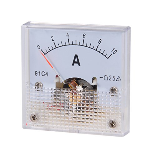 uxcell 91C4-A Analog Current Panel Meter DC 10A Ammeter for Circuit Testing Ampere Tester Gauge 1 PCS by uxcell (Image #6)