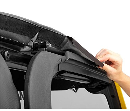 17 Eyelets 3 Zipper - Bestop 56923-17 Black Twill TrekTop NX Complete Fameless Replacement Soft Top with Sunrider Sunroof Feature for 2007-2018 Unlimited