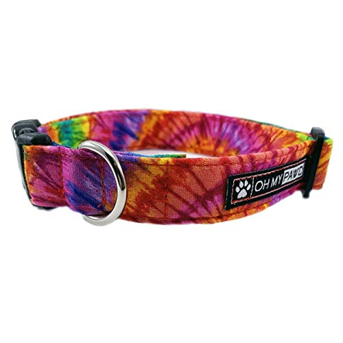 Tie Dye Dog or Cat Collar for Pets Size Extra Small 5/8