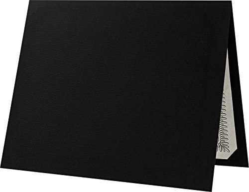 (Certificate Holders (9 1/2 x 12) - Deep Black Linen (25 Qty.) | Perfect for Award Recognition, Certificates, Documents and More! | CHEL-185-DDBLK100-25)